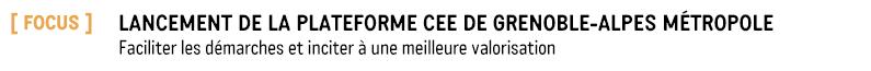 Lancement de la Plateforme CEE de Grenoble-Alpes Métropole